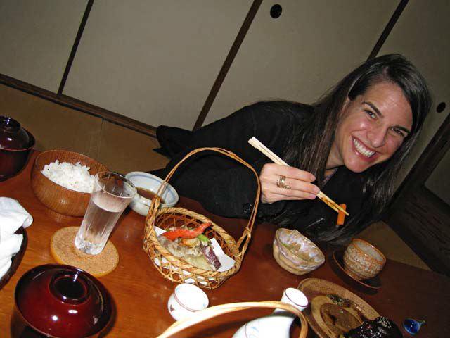 Kathryn with tempura