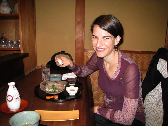 Kathryn at Pontocho Uzuki