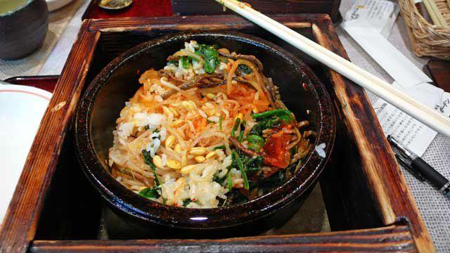 Vegetarian Dolsot Bibinbap